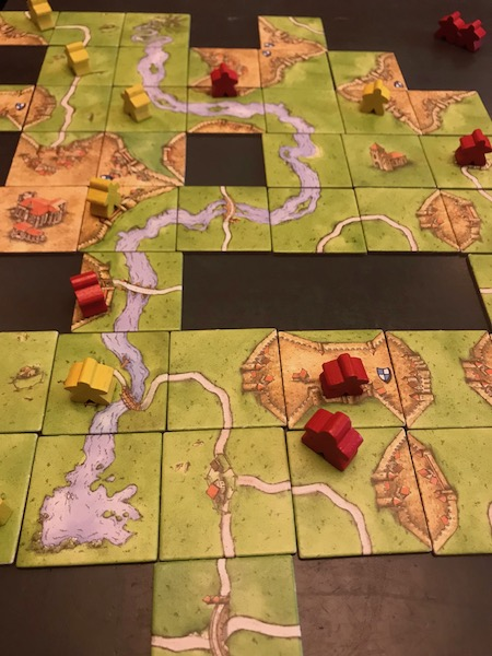 Carcassonne mid game