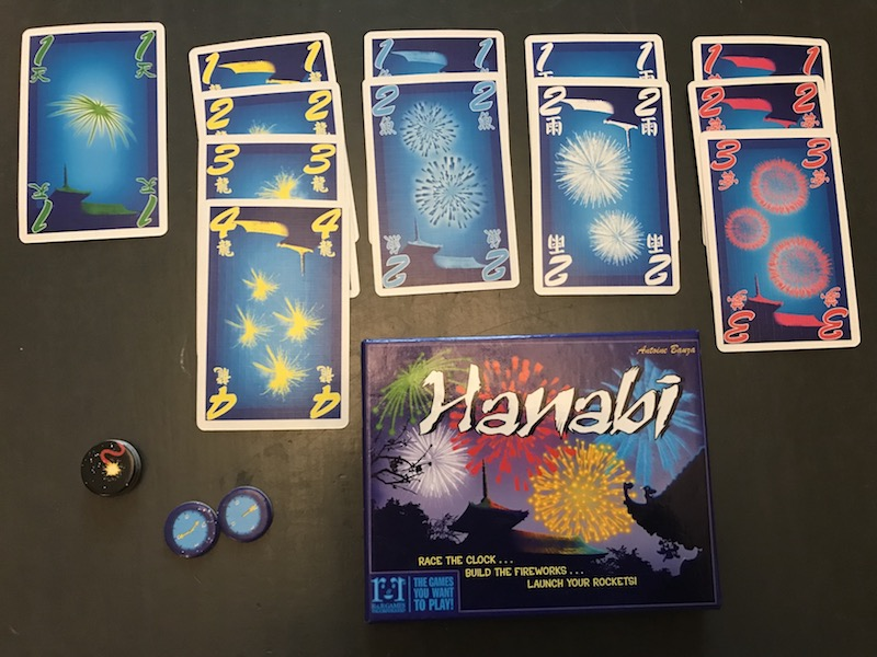 Hanabi display partway through game